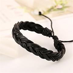preiswerte Armbänder-Herrn Damen Lederarmbänder - Leder Armbänder Schwarz / Braun Für Weihnachts Geschenke Hochzeit Party