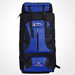 90 L Travel Organizer sırt çantası Arka Çantaları Sırt Çantası Paketleri Laptop Paketleri Tırmanma Seyahat Kamp & YürüyüşSu Geçirmez