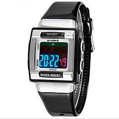 SYNOKE Dziecięce Sportowy Zegarek na nadgarstek Kwarcowy LCD Wodoszczelny alarm Świecący Plastic Pasmo Czarny Biały Purpurowy