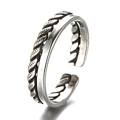 指輪 ファッション / 調整可能 日常 / カジュアル ジュエリー 純銀製 女性 / 男性 関節リング / バンドリング 1個,ワンサイズ シルバー