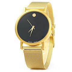 לנשים שעוני אופנה שעונים יום יומיים קווארץ סגסוגת להקה זהב לבן שחור