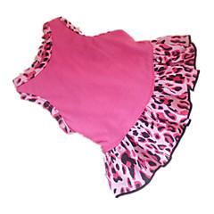 お買い得  犬用ウェア&アクセサリー-犬 ドレス 犬用ウェア ハート 動物 ローズピンク コットン コスチューム ペット用