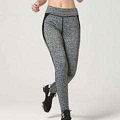 Mulheres Calças de Corrida Respirável Macio Compressão Suave Leggings Calças para Exercício e Atividade Física Corrida Laranja Amarelo