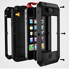 abordables Fundas para iPhone 4s / 4-Funda Para iPhone 4/4S Apple Funda Trasera Dura Metal para iPhone 4s/4