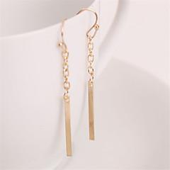 preiswerte Ohrringe-Damen Lang Tropfen-Ohrringe - Europäisch, Simple Style, Modisch Golden Für Party / Alltag / Normal