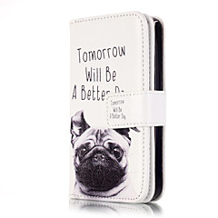 cheap iPhone Cases-For iPhone X iPhone 8 iPhone 5 Case Case Cover Card Holder Wallet with Stand Flip Pattern Full Body Case Dog Hard PU Leather for iPhone X