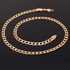 voordelige -Dames Verguld Kettingen Verklaring Kettingen  -  Modieus Cirkelvorm Zilver Gouden Goud Rose Kettingen Voor Kerstcadeaus Bruiloft Feest