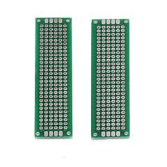お買い得  モジュール-DIYの両面錫はキロバイトボードをメッキ - 銀+グリーン(2個)
