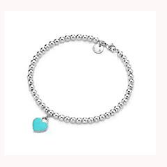 Ανδρικά Γυναικεία Βραχιόλια με Φυλαχτά Βραχιόλια Strand Love Εμπνευστικό Μοντέρνα Βοημία Style Επάργυρο Heart Shape Love Κοσμήματα Για