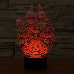 preiswerte Ausgefallene LED-Beleuchtung-1 Stück 3D Nachtlicht USB Abblendbar 5 V