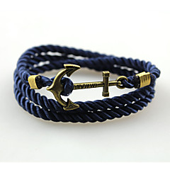 Men's Women's Bangles Wrap Bracelet Handmade Fashion Multi Layer Alloy Anchor Jewelry For Daily Casual