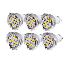 cheap LED Bulbs-YouOKLight 6W 450-500 lm GU10 LED Spotlight R63 15 leds SMD 5630 Decorative Warm White Cold White AC 110-130V AC 220-240V