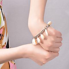 preiswerte Armbänder-Damen Bettelarmbänder Quaste Kaurischnecke Hülle Aleación Silber Golden Schmuck Für Party Alltag Normal Strand 1 Stück