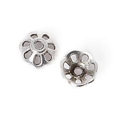 beadia 36pcs antik ezüst ötvözet gyöngyök sapka 8x3mm virág alakú távtartó gyöngyök