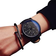 preiswerte Armbanduhren für Paare-Paar Armbanduhr Quartz Armbanduhren für den Alltag PU Band Analog Modisch Schwarz - Weiß Schwarz Ein Jahr Batterielebensdauer