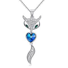 Женский Для пары Ожерелья с подвесками Кристалл Хрусталь Цирконий Сплав В форме сердца Сердце Мода обожаемый БижутерияСвадьба Для