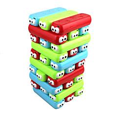 Brettspiel Stapelspiele Holzblock Stapelturm Spielzeuge Mehrfarbig Quadratisch Magnetischer Kitt Neues Design Stücke Mädchen Jungen
