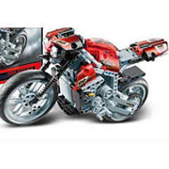tanie -Samochodziki do zabawy Klocki Motocykle do zabawy Motor Koparka Zabawki Samochód Motocykl Ciężarówka Inşaat Aracı Ekologiczne Metal