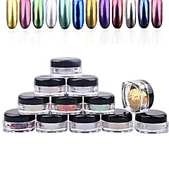 Glitter & Powder-MuutaSormi / Varvas-1.5cm*3cm-1box nail powder + 1pcs brush