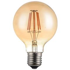 halpa LED-lamput-HRY 1kpl 4W 360 lm E26/E27 LED-hehkulamput G95 4 ledit Teho-LED Koristeltu Lämmin valkoinen AC 220-240V
