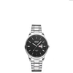 お買い得  大特価腕時計-男性用 リストウォッチ クォーツ 30 m カジュアルウォッチ ステンレス バンド ハンズ チャーム ファッション ブラック / 白 / ブラウン - ブラック Brown ホワイトとブラック