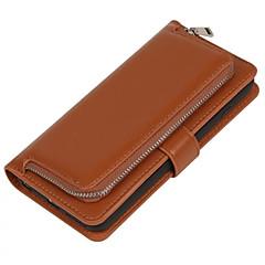 Недорогие Кейсы для iPhone-Кейс для Назначение Apple iPhone 6 Plus / iPhone 6 Кошелек / Бумажник для карт / Флип Чехол Однотонный Мягкий Кожа PU для