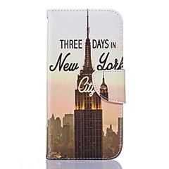 Varten Samsung Galaxy S7 Edge Korttikotelo / Lomapkko / Tuella / Flip / Kuvio Etui Kokonaan peittävä Etui Kaupunkinäkymä Pehmeä Tekonahka