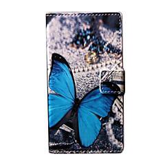 용 노키아 케이스 지갑 / 카드 홀더 / 스탠드 케이스 풀 바디 케이스 버터플라이 하드 인조 가죽 Nokia Nokia Lumia 730