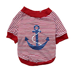 tanie Ubranka i akcesoria dla psów-Kot Pies T-shirt Bluzy Ubrania dla psów Naszywka Czerwony Niebieski Bawełna Kostium Dla zwierząt domowych Męskie Damskie Modny