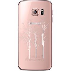 Χαμηλού Κόστους Galaxy S6 Θήκες / Καλύμματα-Για Samsung Galaxy S7 Edge Διαφανής / Με σχέδια tok Πίσω Κάλυμμα tok Δέντρο Μαλακή TPU Samsung S7 edge / S7 / S6 edge plus / S6 edge / S6