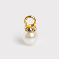 Amulettek / Medálok Plastic Round Shape Elefántcsontszín 10Pcs