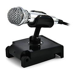 abordables Micrófonos-3.5mmMicrophoneAlámbrico Micrófono de Ordenador Micrófono Condensador