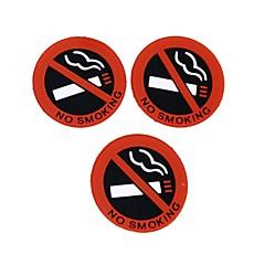 hesapli -Sıcak araba stil oto 3 adet ziqiao Hiçbir logo uyarı işareti çıkartmaları kauçuk lateks 3d çıkartmalar içer