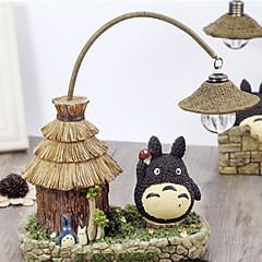 1kpl johti akku omaperäisyys kodin sisustamiseen koristella olkikattoinen talot Totoro yövalo