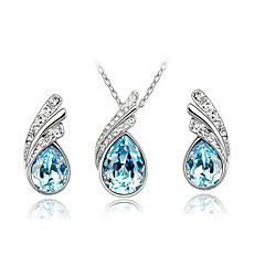 Dames Sieraden Set Ketting / Oorbellen Kristal Modieus Kostuum juwelen Strass Oostenrijks kristal Legering Kettingen Oorbellen Voor