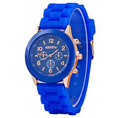 preiswerte Tolle Angebote auf Uhren-Damen Armbanduhr Chronograph Silikon Band Glanz / Modisch Schwarz / Weiß / Blau