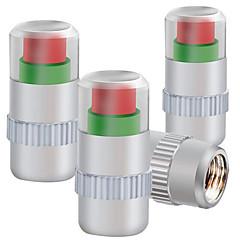 abordables Decoraciones-tapa de la válvula de presión de los neumáticos monitoreo instalado cuatro presión de los neumáticos tapa de metal