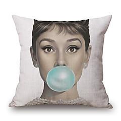 Cotton / Linen Pokrywa Pillow,Nowość / Wzory graficzne Modern / Contemporary / Przypadkowy