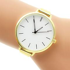 للمرأة ساعات فاشن ساعه اسورة كوارتز ساعة كاجوال ستانلس ستيل فرقة فضة ذهبي