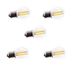 preiswerte LED-Birnen-5 Stück 4W 360lm lm E26/E27 LED Glühlampen G45 4pcs Leds COB Abblendbar Dekorativ Warmes Weiß Kühles Weiß 220V-240V