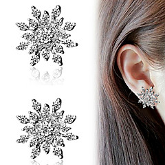 Women's Stud Earrings Fashion Costume Jewelry Rhinestone Alloy Alphabet Shape Snowflake Jewelry For Party Daily Casual