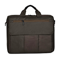 15inch καμβά laptop τσάντα χειρός μαύρο / γκρι / καφέ