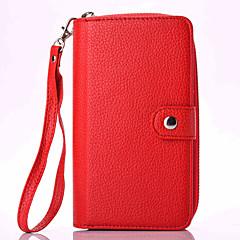 Para Samsung Galaxy Note Soporte de Coche / Cartera / Flip / Magnética Funda Cuerpo Entero Funda Un Color Suave Cuero Sintético Samsung