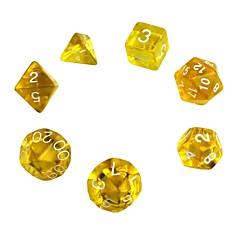 billige Dice og Chips-Terning Polyhedral Dice Set Legetøj Udsøgt Akryl 7 Stk. Gave