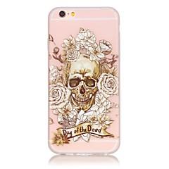 お買い得  iPhone 5S/SE ケース-ケース 用途 Apple iPhone 6 Plus / iPhone 6 蓄光 バックカバー スカル ソフト TPU のために iPhone 6s Plus / iPhone 6s / iPhone 6 Plus