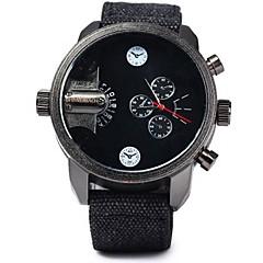 お買い得  メンズ腕時計-SHI WEI BAO 男性用 スポーツウォッチ クォーツ 2タイムゾーン クール 生地 バンド アナログ/デジタル ブラック - ホワイト ブラック