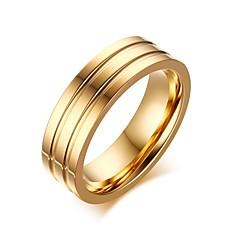 Męskie Damskie Duże pierścionki Modny biżuteria kostiumowa Stal tytanowa Biżuteria Na Impreza Codzienny Casual