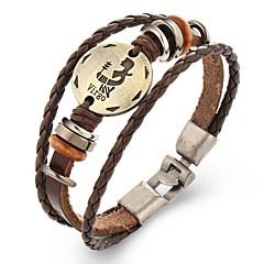 Недорогие Браслеты-Муж. Кожаные браслеты - Кожа Панк Браслеты Бижутерия J / K / L Назначение Повседневные