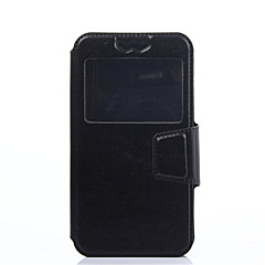 お買い得  その他のケース-ケース 用途 AsusのZenFoneマックスZC550KL AsusのZenfone 2レーザーZE550KL Asus AsusのZenfone 6 A601CG Asusケース 耐衝撃 ウィンドウ付き フリップ 超薄型 フルボディーケース 純色 ハード PUレザー