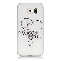 Για Samsung Galaxy S7 Edge Λάμπει στο σκοτάδι / Με σχέδια tok Πίσω Κάλυμμα tok Καρδιά Μαλακή TPU SamsungS7 edge / S7 / S6 edge plus / S6